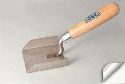 Мастерок штукатурный нержавеющий с деревянной ручкой 80х75